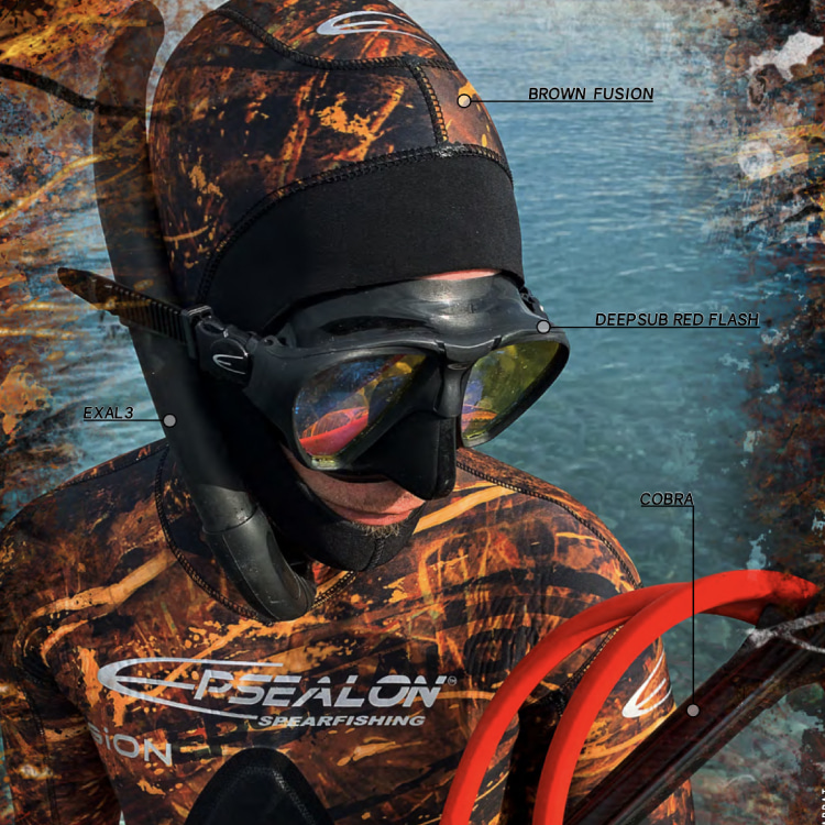 [2A4155] EPSEALON Brown Fusion 5mm Wetsuit