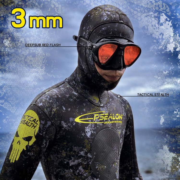 [2A4163] EPSEALON Tactical Stealth 3mm Wetsuit